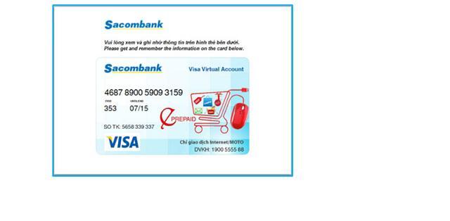 Thẻ visa ảo vô danh