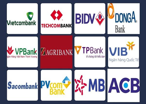 Các ngân hàng lớn và phổ biến