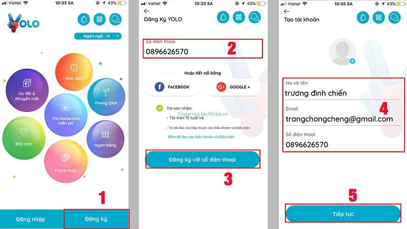 Đăng ký mở tài khoản thẻ mastercard ảo trên YOLO