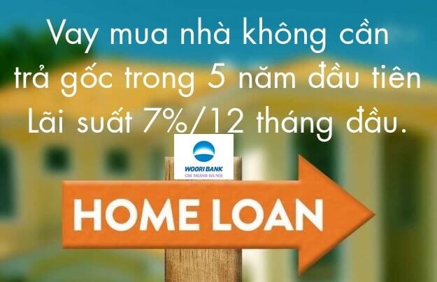 Ngân hàng Woori Bank với mức lãi suất cho vay mua nhà ưu đãi