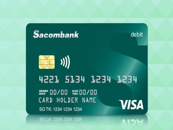 Thẻ ghi nợ ngân hàng Sacombank