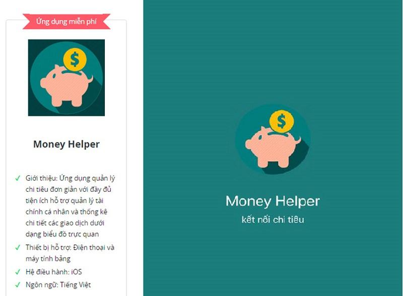 Ứng dụng Money Helper dành cho người mới bắt đầu quản lý chi tiêu cá nhân và gia đình
