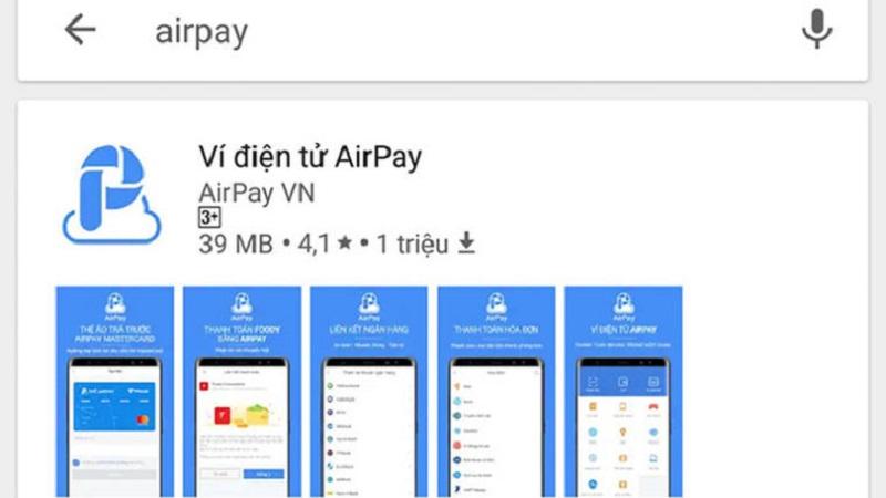 Airpay hỗ trợ cài đặt trên hai hệ điều thành là Android và iOS