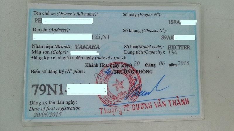 Cà vẹt hay còn gọi là giấy đăng ký xe
