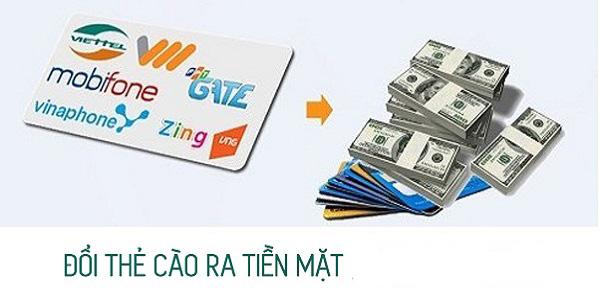Chuyển thẻ cào điện thoại thành tiền mặt