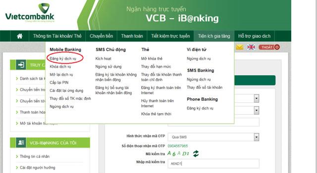 Dễ dàng đăng ký sử dụng dịch vụ Bankplus