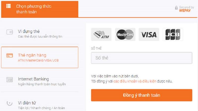 Khách hàng cần nạp tiền vào ví WePay trước khi tiến hành thanh toán