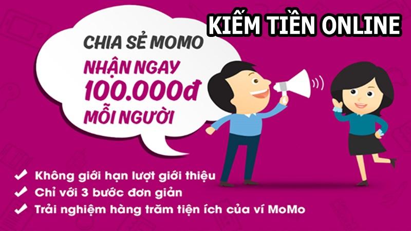 Kiếm tiền đơn giản với ứng dụng Momo