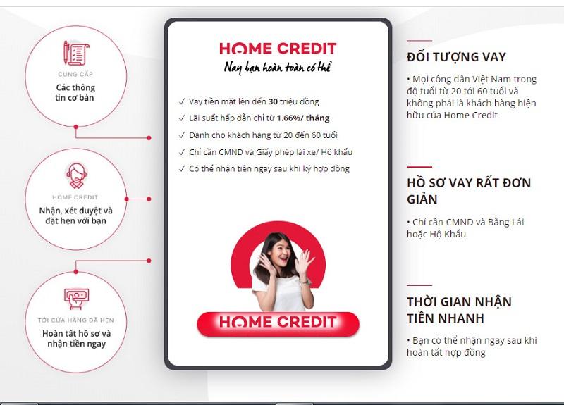 Lợi ích khi vay tiền mặt tại Home Credit