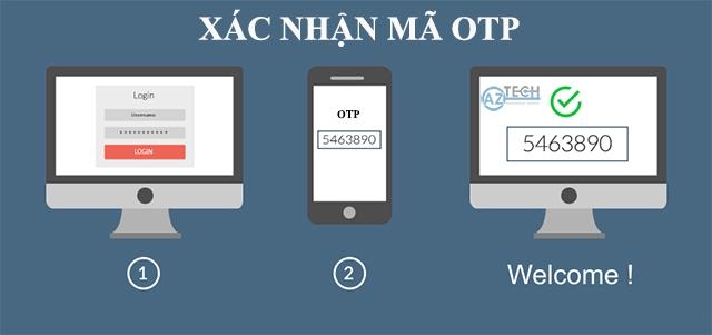 Nhập mã OTP để hoàn tất giao dịch khi sử dụng internet banking