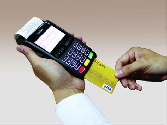 Thanh toán với POS bằng thẻ visa Agribank