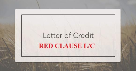 Thư tín dụng điều khoản đỏ