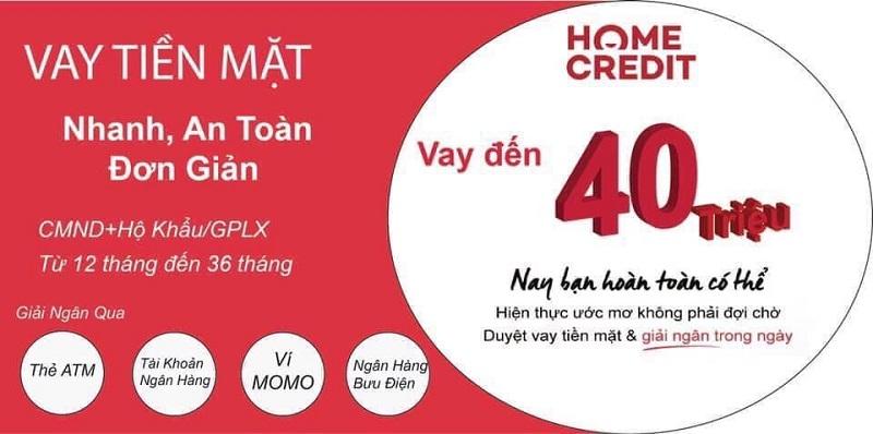 Vay tiền bằng sổ hộ khẩu tại Home Credit