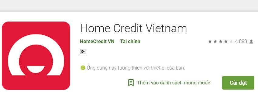 Tải và cài đặt ứng dụng Home Credit để tra cứu tiện lợi hơn