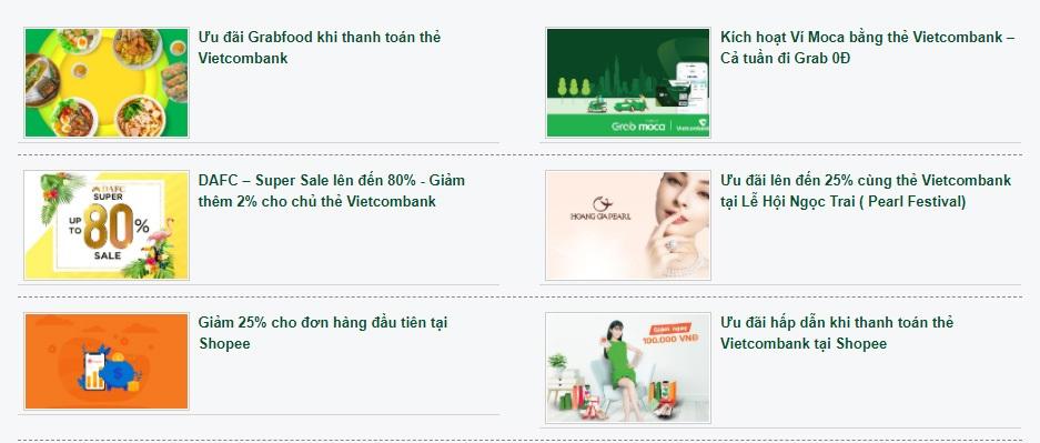 Tận hưởng các chương trình ưu đãi khi mua sắm, thanh toán với thẻ MasterCard Vietcombank