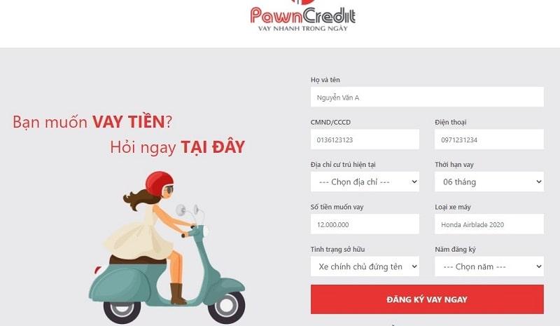 Khách hàng dễ dàng đăng ký vay tại Pawncredit mà không tốn nhiều thời gian
