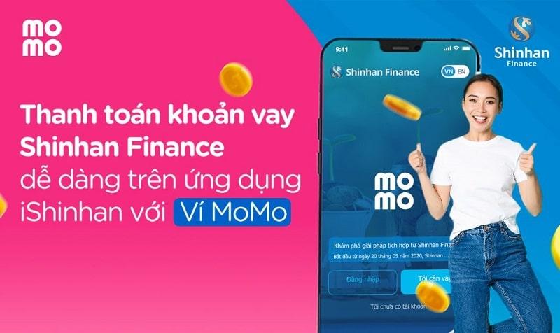 Khách hàng có thể thanh toán khoản vay trên ứng dụng Momo