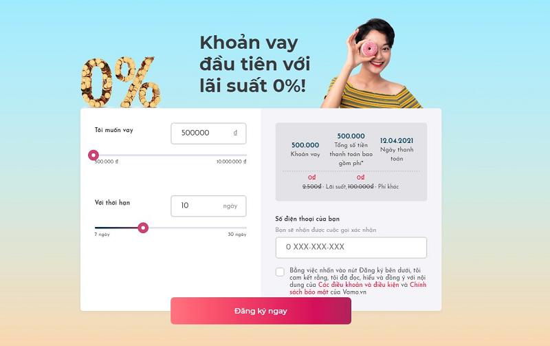 Vamo là đơn vị hỗ trợ vay tiền trực tuyến trong ngày với lãi suất cạnh tranh