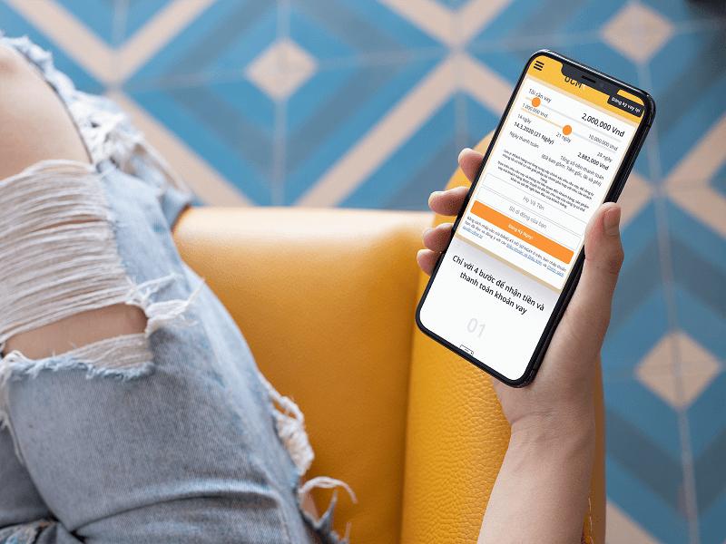 Chỉ cần 1 chiếc điện thoại là bạn đã có thể tiến hành vay tiền online One Click Money
