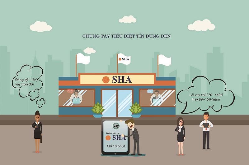 SHA cho phép đăng ký khoản vay nhanh chóng, lãi suất cực thấp