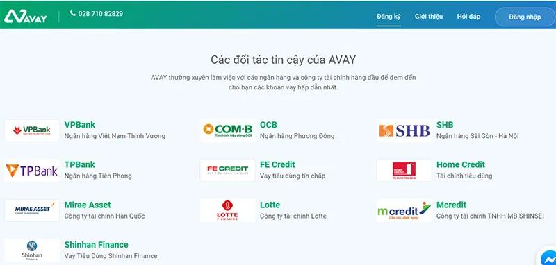 Avay đang liên kết với các ngân hàng và tổ chức tài chính lớn trong nước