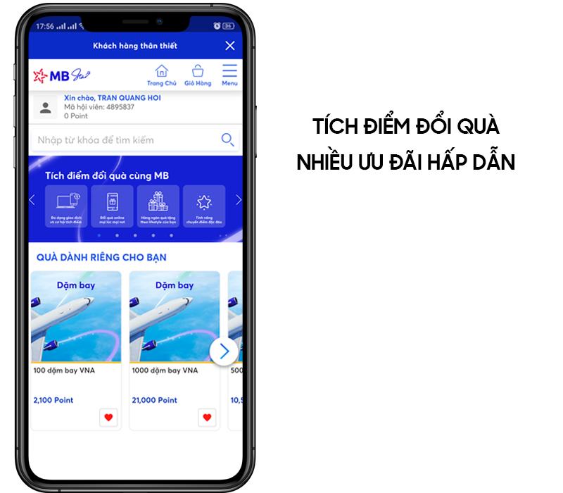 Tận hưởng các ưu đãi hấp dẫn khi bạn sử dụng ứng dụng MB Bank