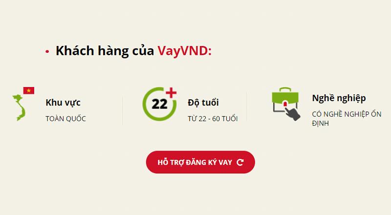 VayVND chỉ yêu cầu khách hàng đáp ứng các điều kiện cơ bản