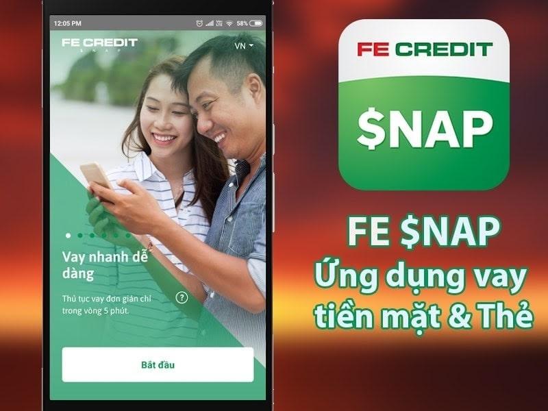 Ứng dụng FE $NAP Credit  được nhiều người tin dùng
